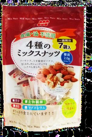 食塩不使用4種のミックスナッツ7P