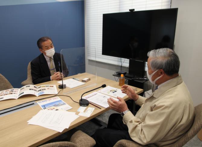 ラジオ関西で当社会長 吉田のインタビューが放送されました。